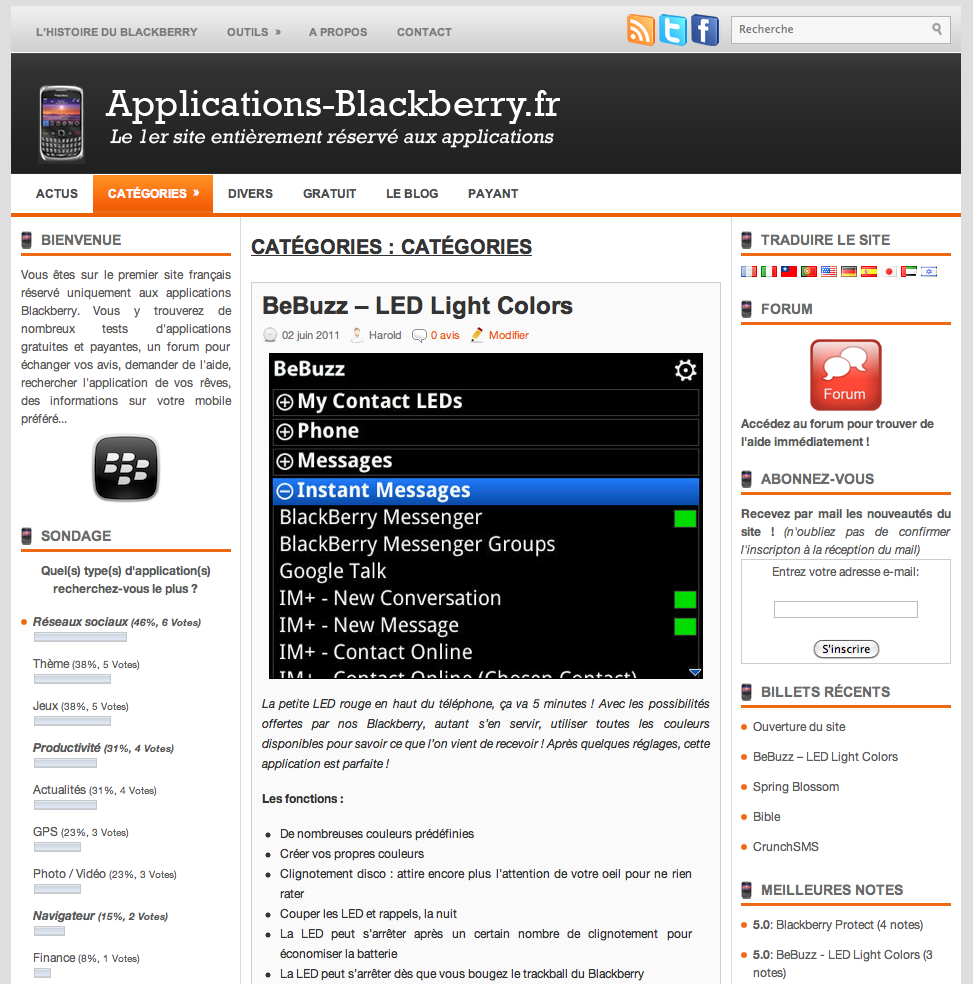 Site de rencontre sur blackberry