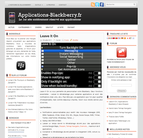 Applications-Blackberry.fr
